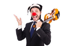 Lustiger Clowngeschäftsmann lokalisiert Stockbilder