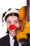 Lustiger Clowngeschäftsmann lokalisiert Lizenzfreie Stockfotografie