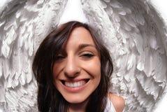 Lustiger Engel wings Portrait Lizenzfreies Stockfoto