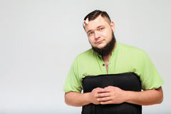 Lustiger fetter Junge Lizenzfreies Stockfoto