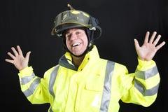 Lustiger Feuerwehrmann Lizenzfreie Stockfotos