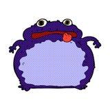 lustiger Frosch der komischen Karikatur Lizenzfreie Stockfotos