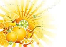 Lustiger Fruchthintergrund Lizenzfreie Stockbilder