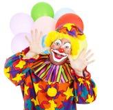 Lustiger Geburtstag-Clown stockbilder