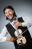 Lustiger Geigenviolinenspieler Stockfotografie