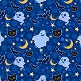 Lustiger Halloween-nahtloser Hintergrund Stockbild
