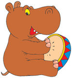 Lustiger Hippopotamus Lizenzfreies Stockfoto