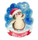 Lustiger Karikatur-Pinguin Stockbild