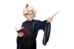 Lustiger kluger Zauberer lokalisiert Lizenzfreie Stockfotos