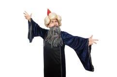 Lustiger kluger Zauberer lokalisiert Lizenzfreies Stockfoto