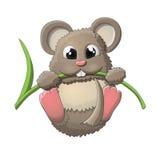 Lustiger Mäusecharakter stock abbildung