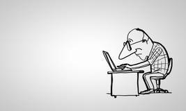 Lustiger Mann der Karikatur Lizenzfreies Stockbild