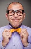 Lustiger Mann mit einer Art Lizenzfreies Stockfoto