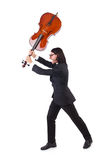 Lustiger Mann mit Musikinstrument Lizenzfreie Stockfotografie