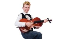 Lustiger Mann mit Violine Lizenzfreies Stockfoto