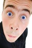 Lustiger Mann schaut oben Lizenzfreie Stockfotos