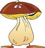 Lustiger Pilz der Karikatur Stockbild