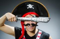 Lustiger Pirat Stockbild