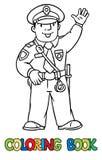 Lustiger Polizist Bunte grafische Abbildung stock abbildung