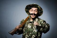 Lustiger Soldat Stockfoto