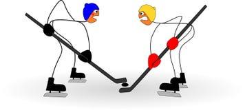 Lustiger Stock stellt Spielhockey an den olympischen Winterspielen dar Lizenzfreie Stockfotografie