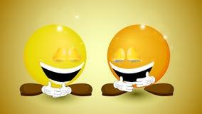 Lustiger Tag Zwei lachende B?lle lizenzfreie abbildung
