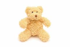 Lustiger Teddybär lokalisiert auf Weiß Stockbild