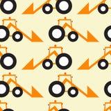 Lustiger Traktor gegenüber von Muster Stockbilder