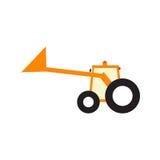 Lustiger Traktor mit upped Schaufel Lizenzfreie Stockbilder