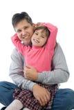Lustiger Vater und Tochter Stockfotografie