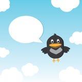 Lustiger Vogel, der im Himmel Twitting ist Lizenzfreies Stockbild