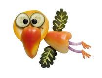Lustiger Vogel gemacht vom Gemüse Lizenzfreie Stockfotografie