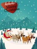 Lustiger Weihnachtshintergrund Stockfotografie