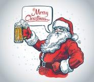 Lustiger Weihnachtsmann stock abbildung