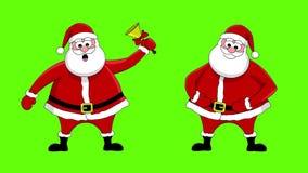 Lustiger Weihnachtsmann stock footage