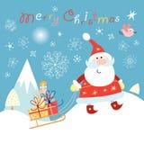 Lustiger Weihnachtsmann Stockbild