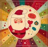 Lustiger Weihnachtsmann Lizenzfreies Stockfoto