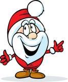 Lustiger Weihnachtsmann lokalisiert auf Weiß Stockfotos