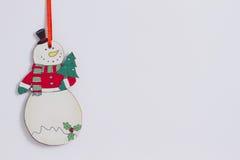 Lustiger Weihnachtsschneemann stock abbildung