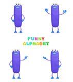 Lustiges Alphabet Stockbild