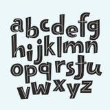Lustiges Alphabet des Vektors für Kinder Lizenzfreie Stockfotografie
