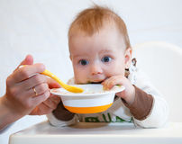 Lustiges Babyabendessen Lizenzfreie Stockfotografie