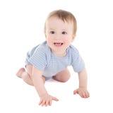 Lustiges Babykleinkind lokalisiert auf Weiß Stockbild