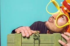 Lustiges Bild eines Mannes stockfotos
