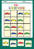 Lustiges Bild sudoku für Kinder Stockfotografie