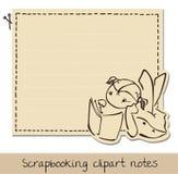 Lustiges Briefpapier des Einklebebuchs für Kinder Stockfoto