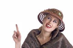 Lustiges Damezeigen Lizenzfreies Stockfoto