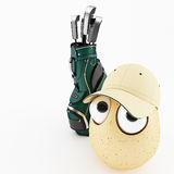 Lustiges Ei als Karikatur 3d Stockbild