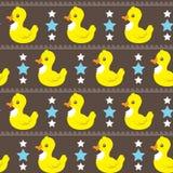 Lustiges einfaches Entenmuster Stockfoto