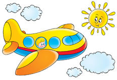 Lustiges Flugzeug Stockfoto